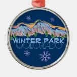 Winter Park Colorado mountain snowflake ornament