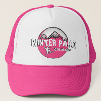 Winter Park Colorado pink theme snowboard hat
