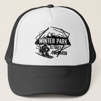 Winter Park Colorado ski elevation logo hat