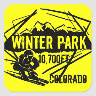 Winter Park Colorado ski elevation yellow stickers