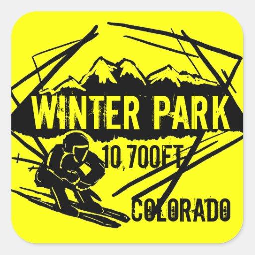 Colorado Elevation: Winter Park Colorado Ski Elevation Yellow Stickers