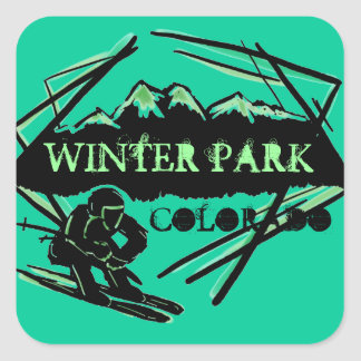 Winter Park Colorado ski green mountain stickers