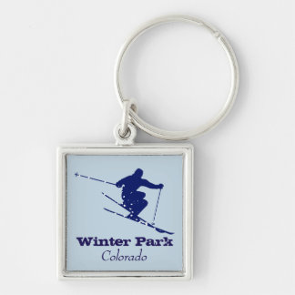 Winter Park Colorado Skier Keychain