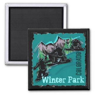 Winter Park Colorado snowboard magnet