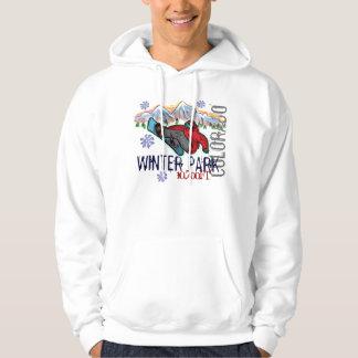 Winter Park Colorado snowboarder elevation hoodie