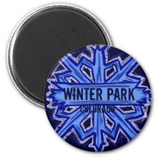 Winter Park Colorado snowflake magnet