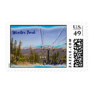 Winter Park Colorado stamp