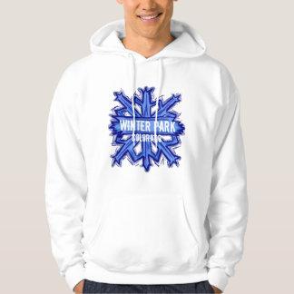 Winter Park Colorado winter snowflake hoodie