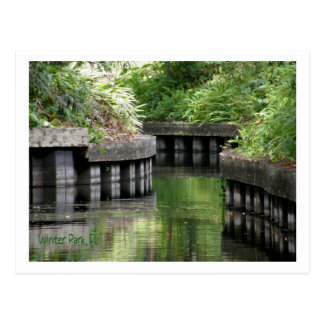 Winter Park, FL Canal Postcard
