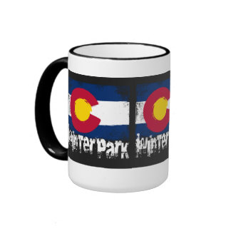 Winter Park Grunge Flag Ringer Mug