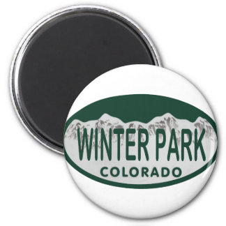 Winter Park license oval 2 Inch Round Magnet