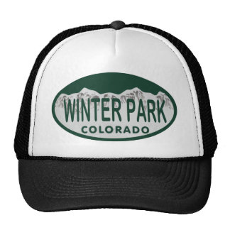 Winter Park license oval Trucker Hat