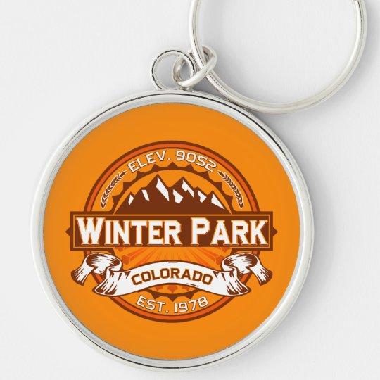 Winter Park Logo Tangerine Keychain