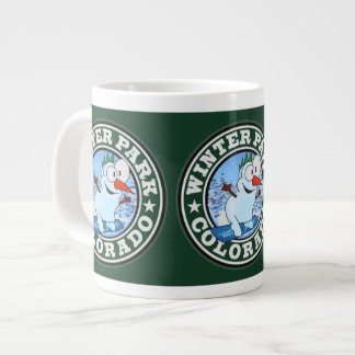 Winter Park Snowman Circle Large Coffee Mug