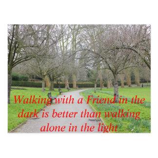 Winter Park Walk Alone Text Poster Postcard