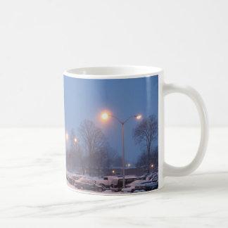 Winter Parking Lot Classic White Coffee Mug