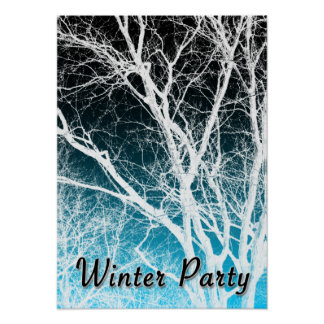 winter party : ghost tree poster