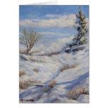 Winter Path Art Christmas Card
