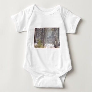 Winter Path Baby Bodysuit
