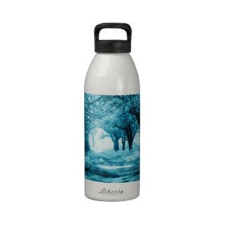 Winter path reusable water bottle
