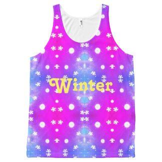 Winter pattern All-Over-Print tank top