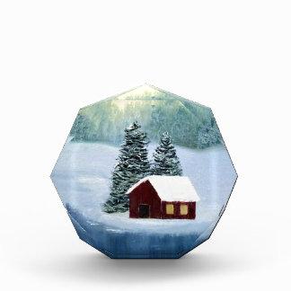 Winter Peace Frozen Ice Snow River Trees Landscape Acrylic Award