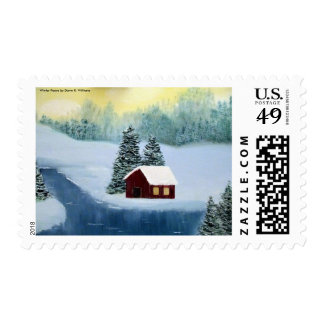 Winter Peace Postage Stamp