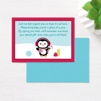 Winter Penguin Book Request Cards