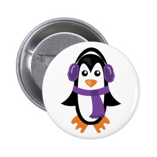 Winter Penguin 2 Inch Round Button