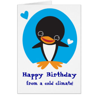 Winter Penguin Card