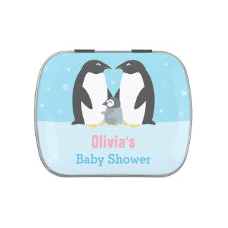 Winter Penguin Family Baby Shower Treats Jelly Belly Tin
