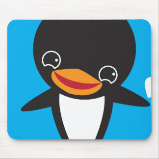 Winter Penguin Mouse Pad