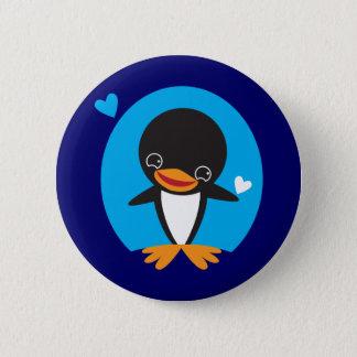 Winter Penguin Pinback Button