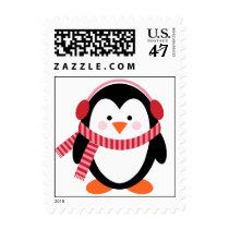 Winter Penguin Postage