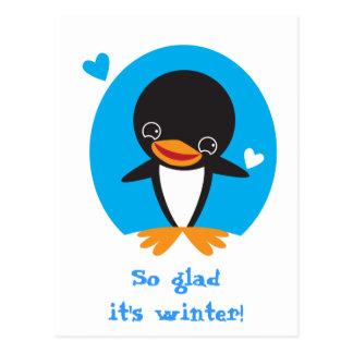 Winter Penguin Postcard