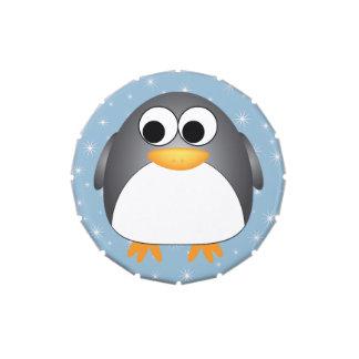 Winter Penguin Snowflakes Candy Tin