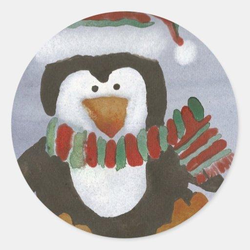 Winter Penguin Stickers