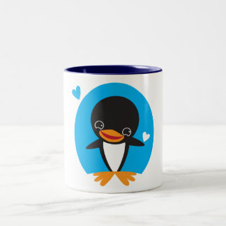 Winter Penguin Two-Tone Coffee Mug