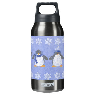 Winter penguins insulated water bottle