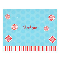 Winter Peppermint Flat Thank You Note Cards