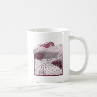 Winter Personified as a Beautiful Woman Classic White Coffee Mug