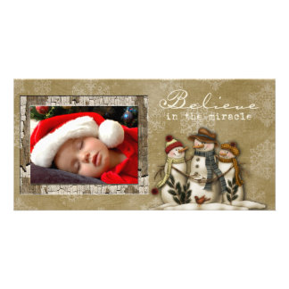 winter photo card