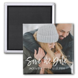 Winter Photo Save the Date Magnet