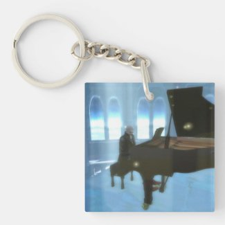 Winter piano keychain