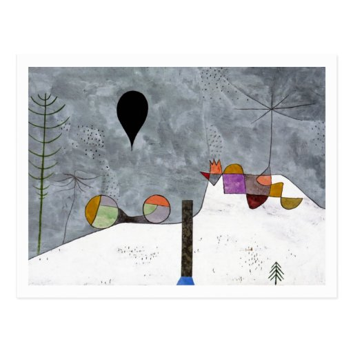 Winter Picture By Paul Klee Post Card