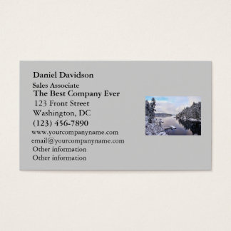 Winter Picture of Snow Business Card