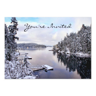 Winter Picture of Snow Card
