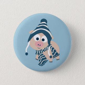 Winter Pig Button