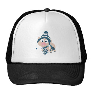 Winter Pig Trucker Hat