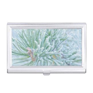 Winter Pine Business Card Holder